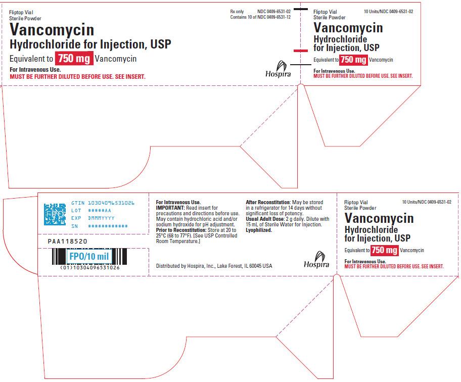 PRINCIPAL DISPLAY PANEL - 750 mg Vial Tray