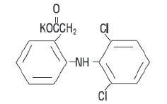 Diclofenac Potassium Structural Formula