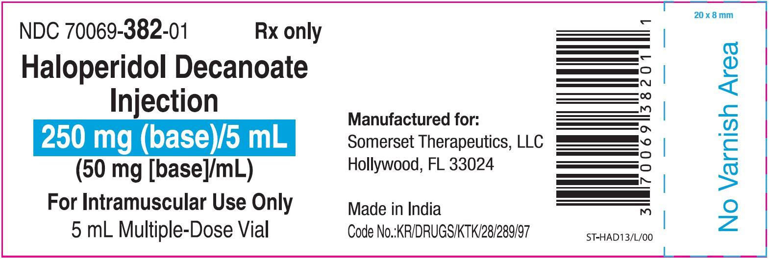 vial label 5ml