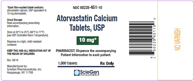 Atorvastatin Calcium Tablets 10 mg-1000 Tablets label