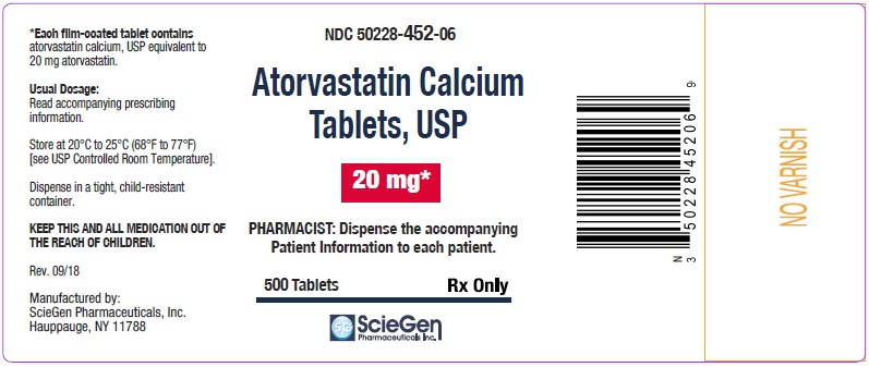 Atorvastatin Calcium Tablets 20 mg-500 Tablets label