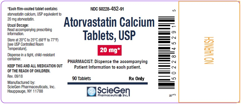 Atorvastatin Calcium Tablets 20 mg-90 Tablets label
