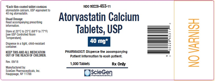 Atorvastatin Calcium Tablets 40 mg-1000 Tablets label