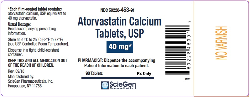 Atorvastatin Calcium Tablets 40 mg-90 Tablets label