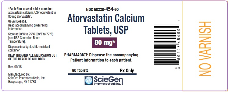 Atorvastatin Calcium Tablets 80 mg-90 Tablets label