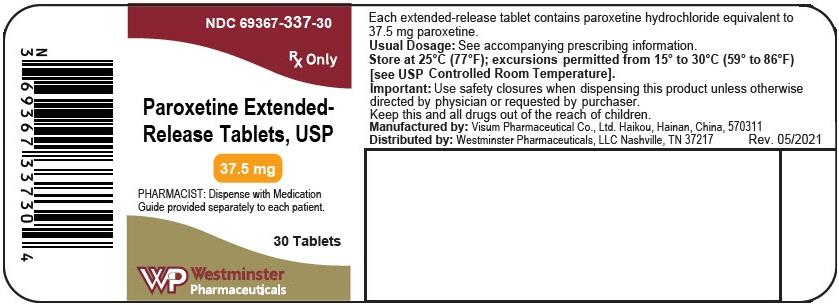 PRINCIPAL DISPLAY PANEL - 37.5 mg Tablet Bottle Label