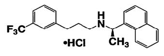 Cinacalcet hydrochloride chemical structure