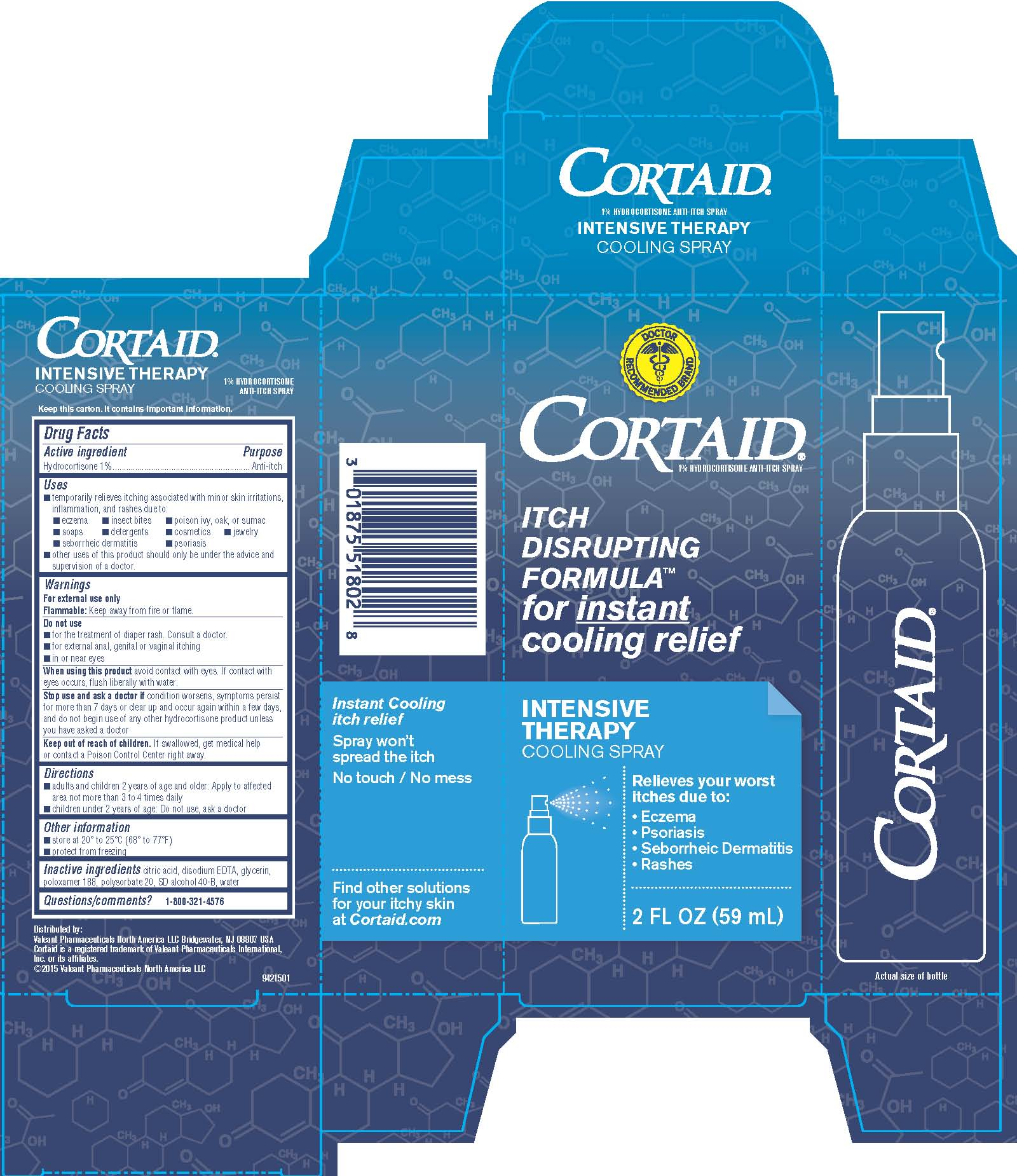 Cortaid Intensive Therapy Cooling Spray - 2 fl oz Carton