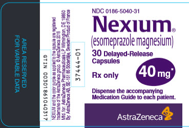 Nexium 40 mg 30 count bottle label