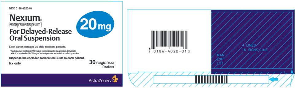 Nexium 20 mg 30 single dose packets