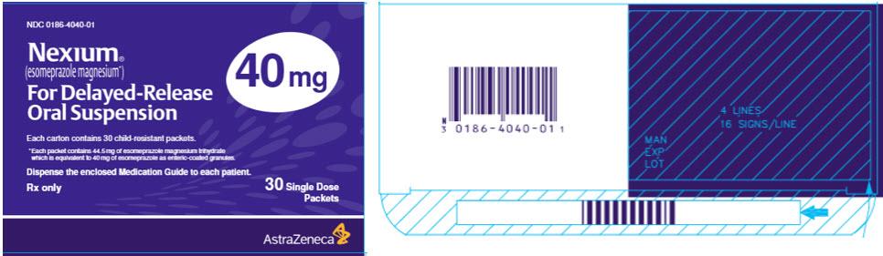 Nexium 40 mg 30 single dose packets
