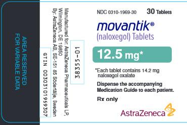 Movantik 12.5 mg 30 tablet bottle label