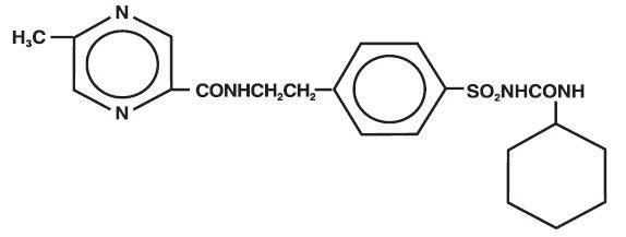 structural formula for Glipizide