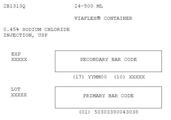 Sodium Chloride Representative Carton Label  0338-0043-03
