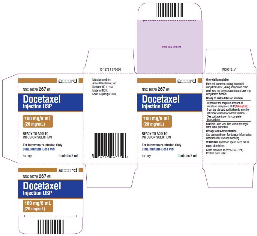 PACKAGE LABEL-PRINCIPAL DISPLAY PANEL - Carton 160 mg/8 mL