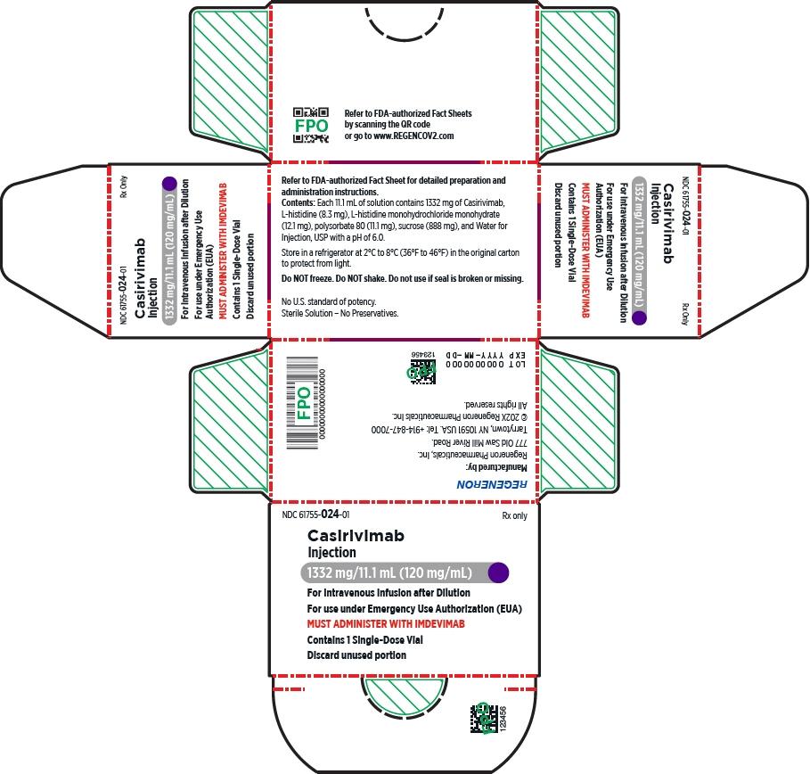PRINCIPAL DISPLAY PANEL - 1332 mg/11.1 mL Vial Carton - Casirivimab