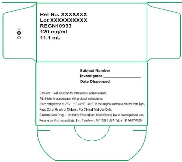 PRINCIPAL DISPLAY PANEL - 1332 mg/11.1 mL Initial Clinical Vial Carton - REGN10933