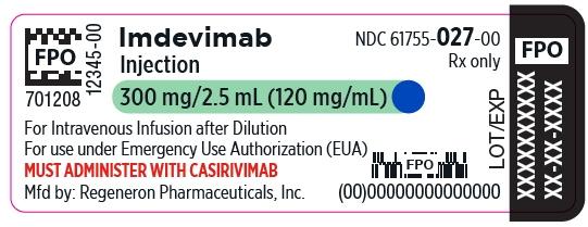 PRINCIPAL DISPLAY PANEL - 300 mg/2.5 mL Vial Label - Imdevimab