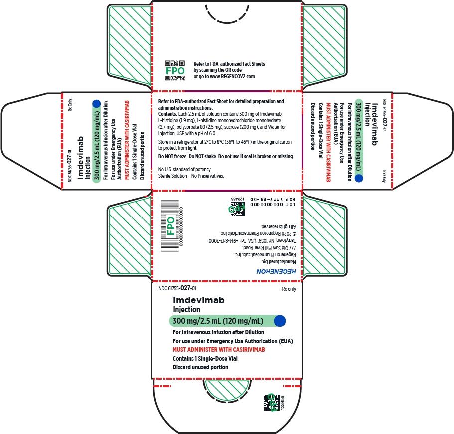 PRINCIPAL DISPLAY PANEL - 300 mg/2.5 mL Vial Carton - Imdevimab