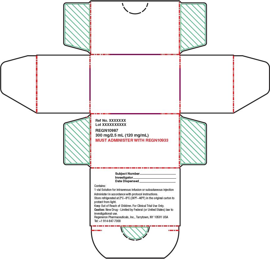 PRINCIPAL DISPLAY PANEL - 300 mg/2.5 mL Modified Vial Carton  - REGN10987