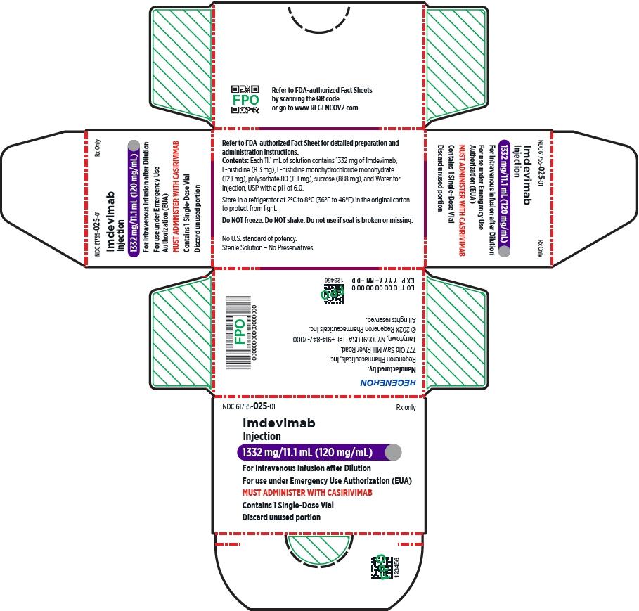 PRINCIPAL DISPLAY PANEL - 1332 mg/11.1 mL Vial Carton - Imdevimab