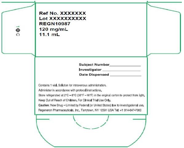 PRINCIPAL DISPLAY PANEL - 1332 mg/11.1 mL Initial Clinical Vial Carton - REGN10987