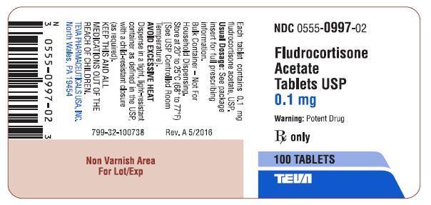 Fludrocortisone Acetate Tablets USP 0.1 mg 100s Label