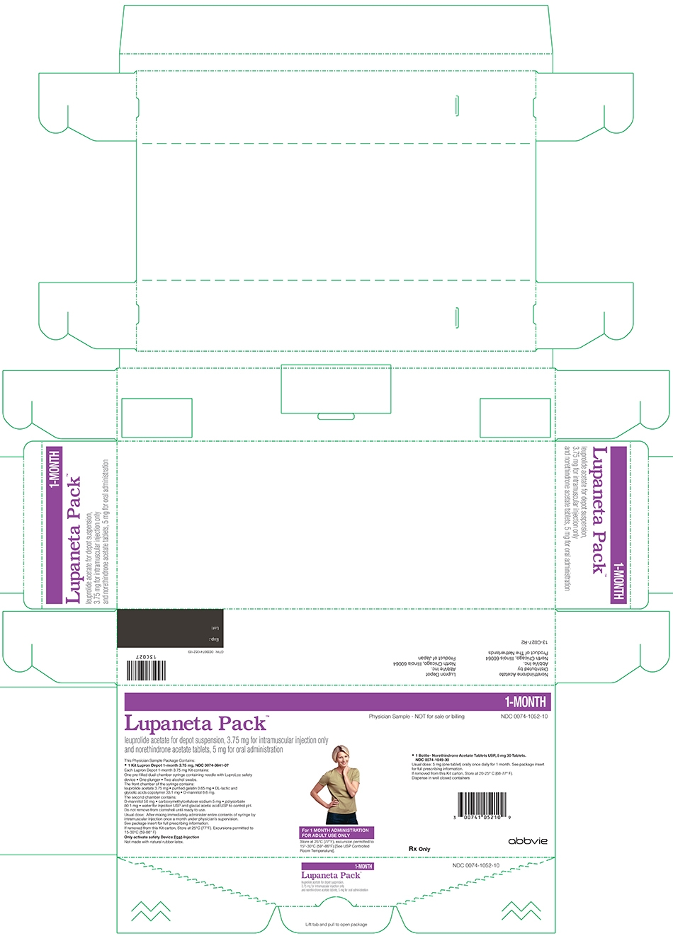 lupaneta pack 3.75 mg 1 month kit sample
