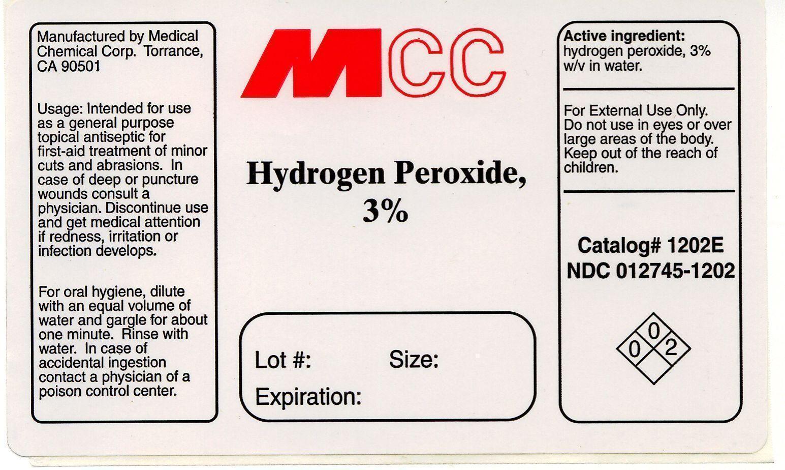Hydrogen Peroxide Label