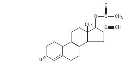 Norethindrone Acetate structural formula