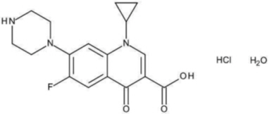 Chemical Structure-Ciprofloxin