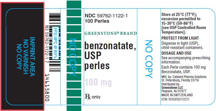 PRINCIPAL DISPLAY PANEL - 100 mg Perles Bottle Label