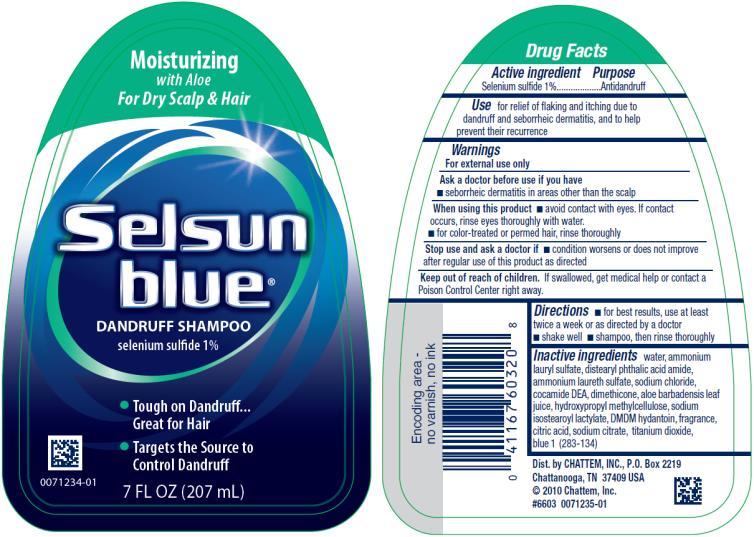 PRINCIPAL DISPLAY PANEL Moisturizing Selsun blue® DANDRUFF SHAMPOO selenium sulfide 1% 7 FL OZ (207 mL)