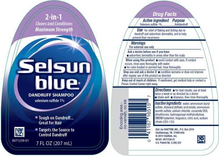 PRINCIPAL DISPLAY PANEL 2-in-1 Selsun blue® DANDRUFF SHAMPOO selenium sulfide 1% 7 FL OZ (207 mL)