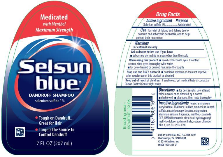 PRINCIPAL DISPLAY PANEL Medicated Selsun blue® DANDRUFF SHAMPOO selenium sulfide 1% 7 FL OZ (207 mL)