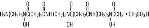 structural formula deferoxamine mesylate