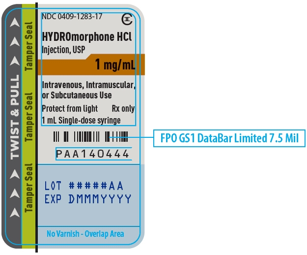 PRINCIPAL DISPLAY PANEL - 1 mg/mL Syringe Label - 1283