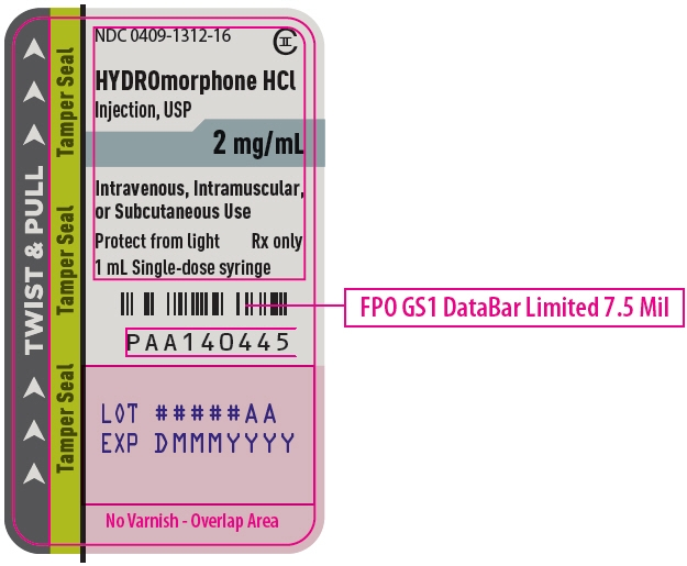 PRINCIPAL DISPLAY PANEL - 2 mg/mL Syringe Label - 1312