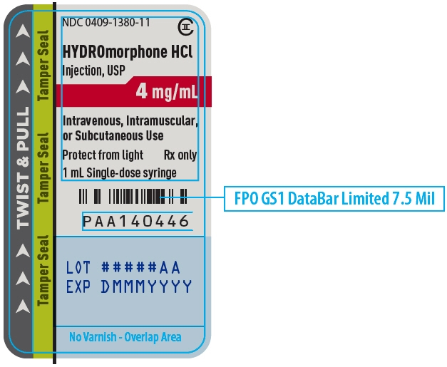 PRINCIPAL DISPLAY PANEL - 4 mg/mL Syringe Label - 1380