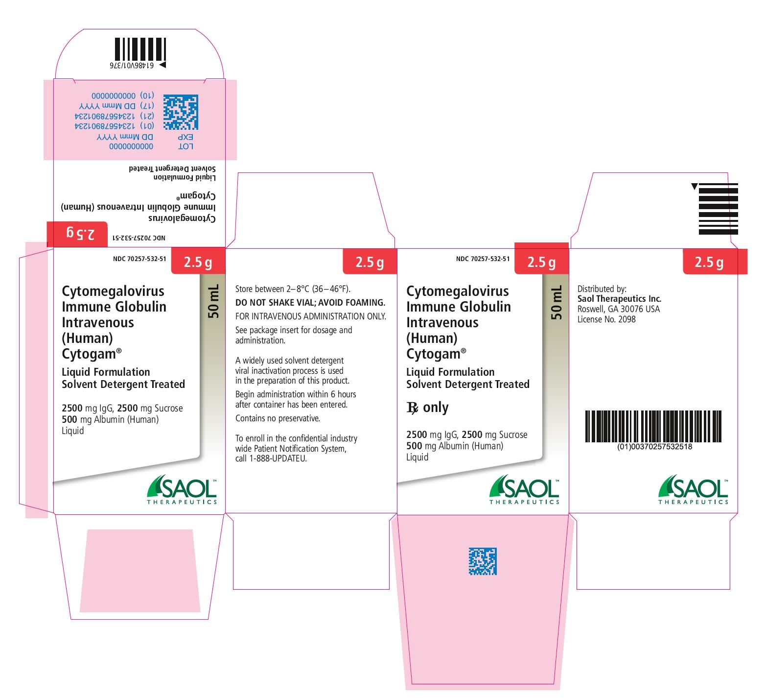 2.5g Carton label
