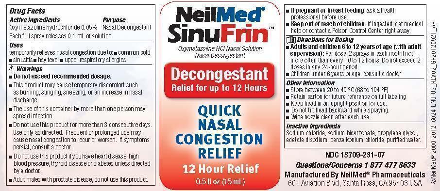 SinuFrin bottle label