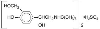 Albuterol Sulfate Inhalation Solution Structural Formula