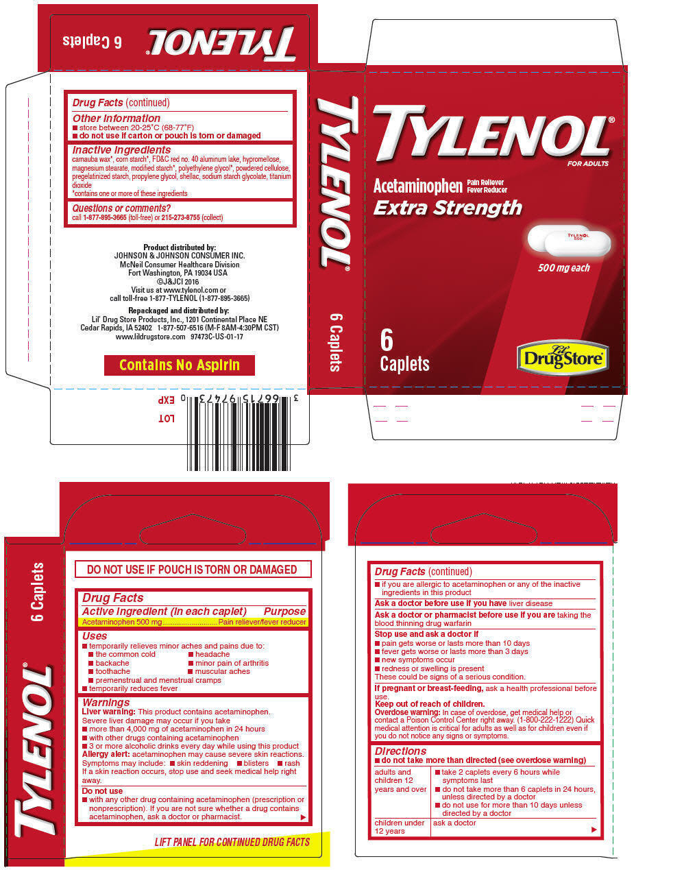 Principal Display Panel - 500 mg Caplet Pouch Carton