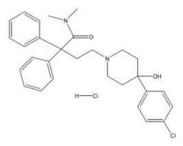 Loperamide Hydrochloride Structural Formula