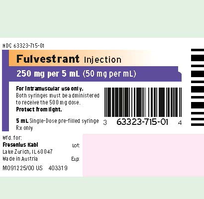 Principal Display Panel – Fulvestrant Injection 250 mg per 5 mL Syringe Label