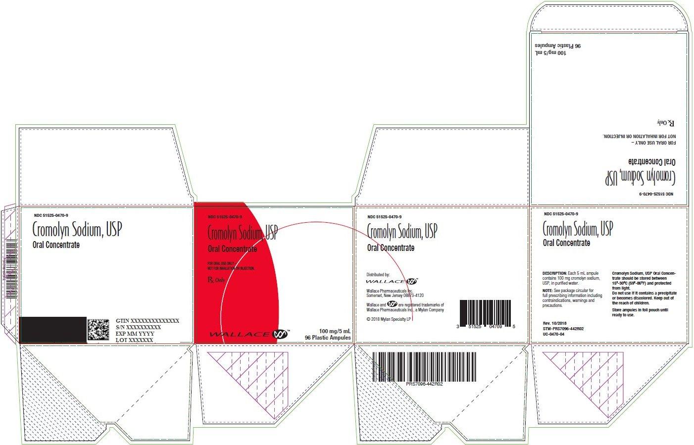 Cromolyn Sodium, USP Oral Concentrate Carton Label
