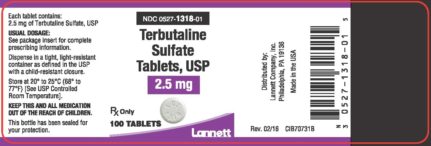 2.5 mg 100 count bottle label
