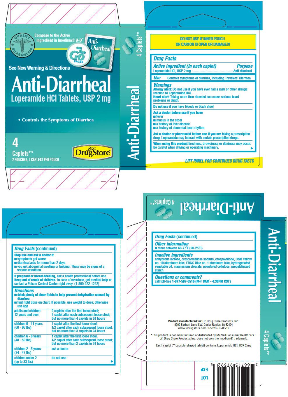 PRINCIPAL DISPLAY PANEL - 2 mg Caplet Pouch Carton