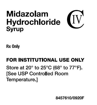 Midazolam HCl Syrup Label