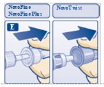 Figure E: Pull off outer needle cap.